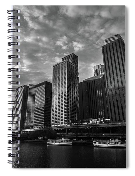 Chi Sunrise Black And White Spiral Notebook