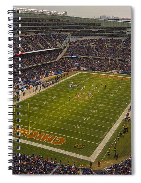 Chicago Bears Soldier Field 7795 Spiral Notebook