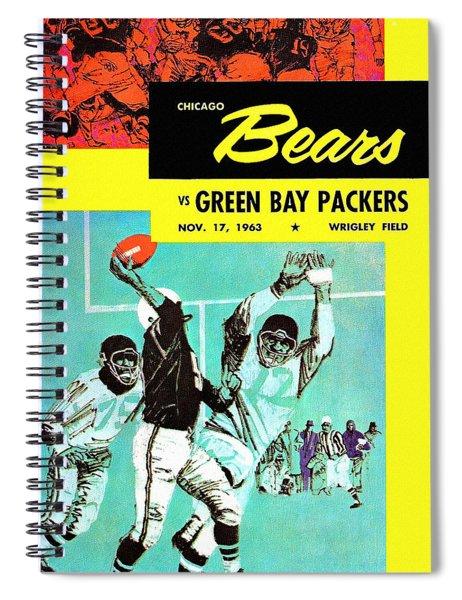 Chicago Bears V Green Bay 1963 Program Spiral Notebook