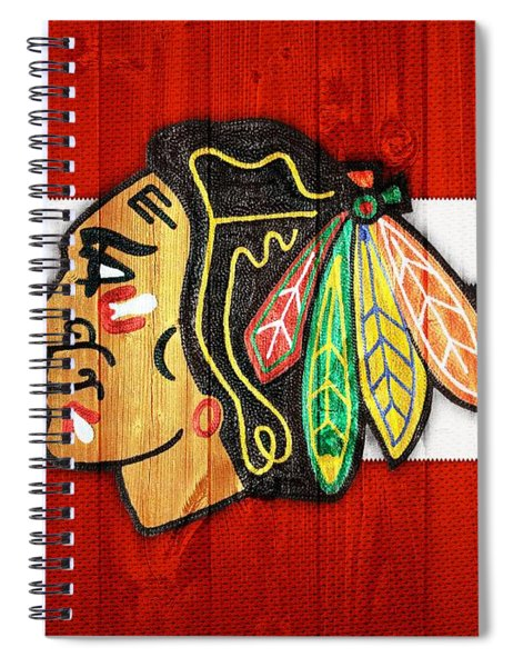 Chicago Blackhawks Barn Door Spiral Notebook