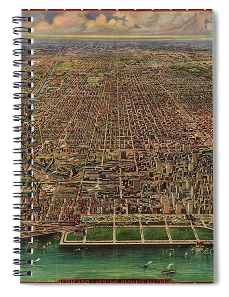 Chicago, Central Business Section Spiral Notebook