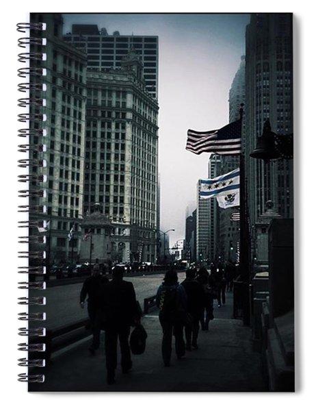 Chicago City Fog Spiral Notebook