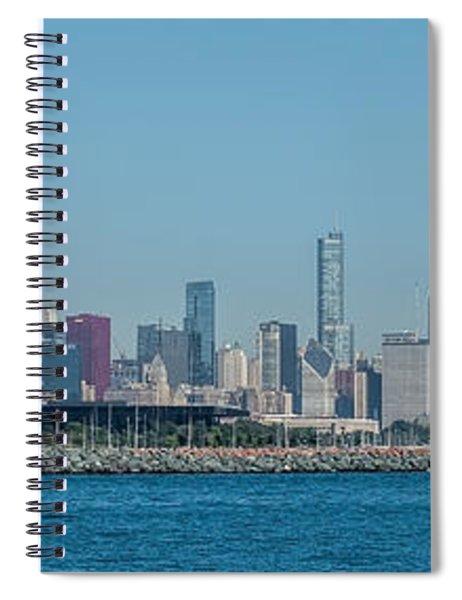Chicago City Skyline Spiral Notebook
