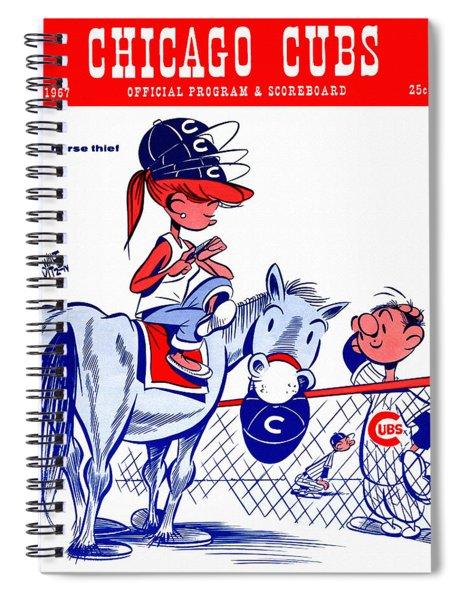 Chicago Cubs 1967 Scorecard Spiral Notebook