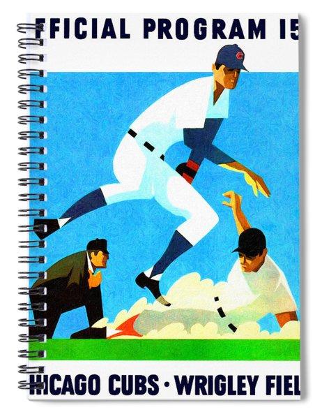 Chicago Cubs 1970 Program Spiral Notebook