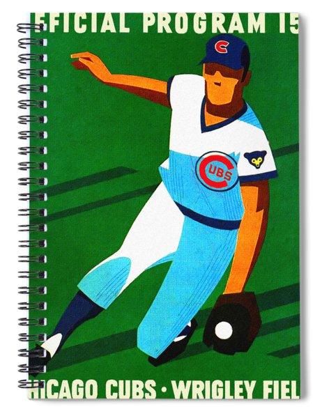Chicago Cubs 1972 Official Program Spiral Notebook