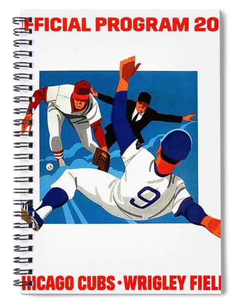 Chicago Cubs 1974 Program Spiral Notebook