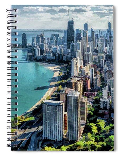 Chicago Gold Coast Skyline Spiral Notebook