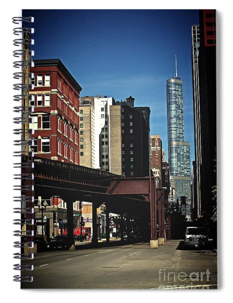 Chicago L Between The Walls Spiral Notebook