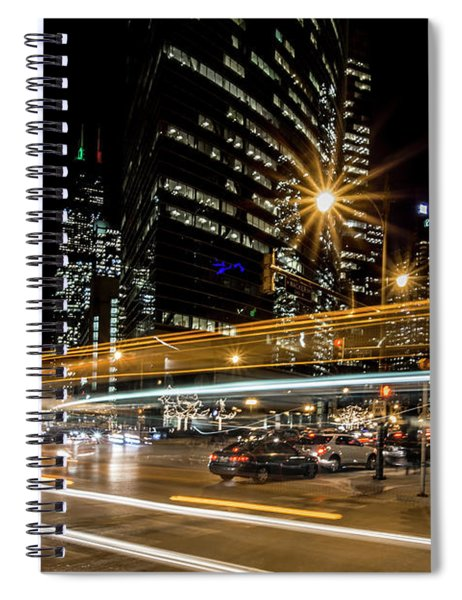 Chicago Nighttime Time Exposure Spiral Notebook