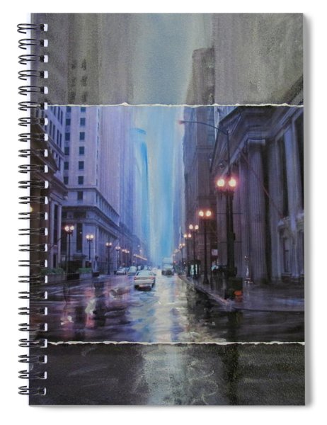 Chicago Rainy Street Expanded Spiral Notebook