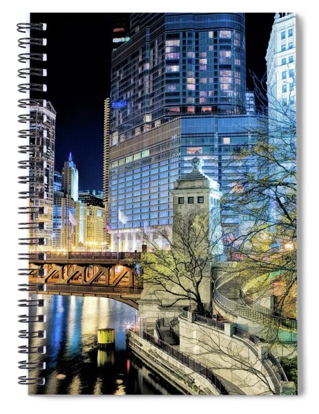 Chicago River Michigan Avenue Bridgehouse Spiral Notebook