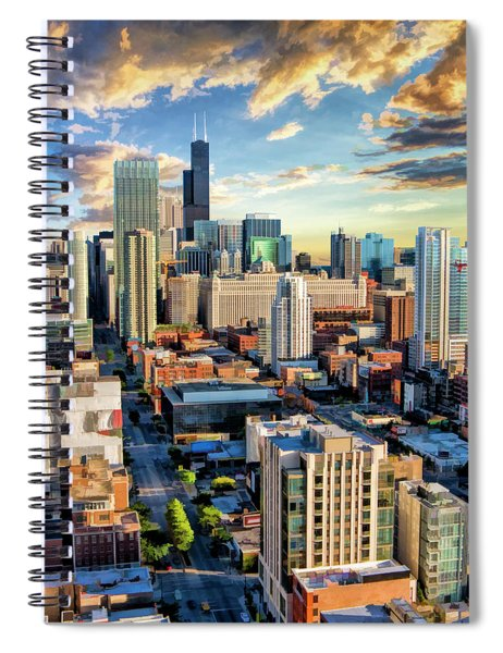 Chicago River North Spiral Notebook