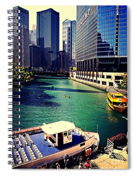 City Of Chicago - River Tour Spiral Notebook