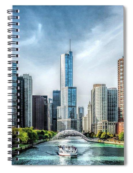 Chicago River Tour Trump Tower Spiral Notebook