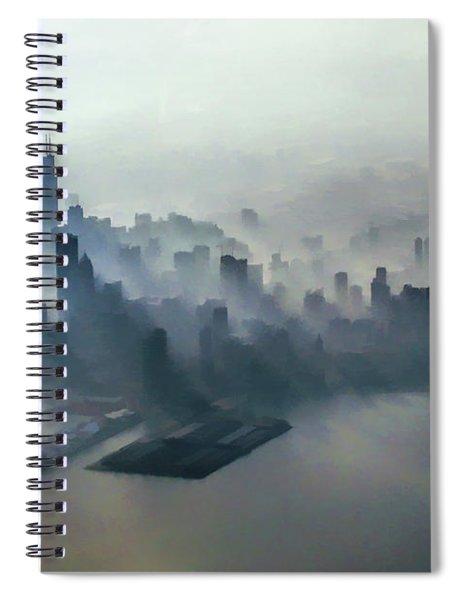 Chicago Skyline Clouds Spiral Notebook
