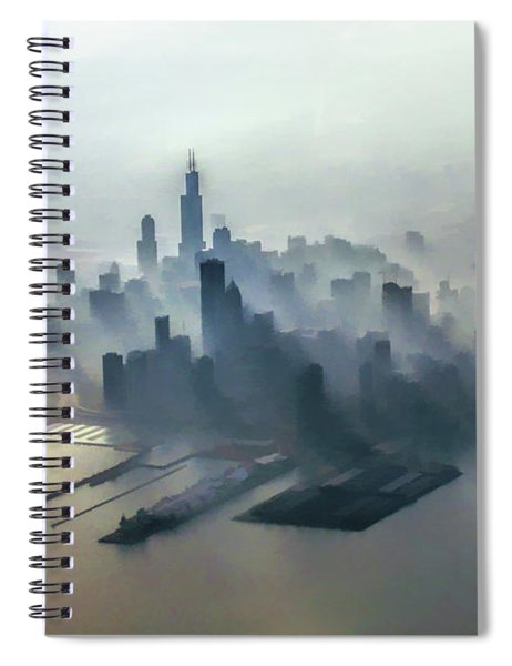 Chicago Skyline Clouds Spiral Notebook