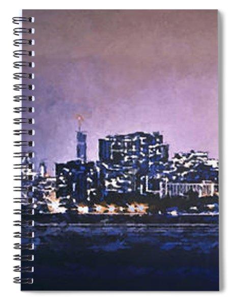 Chicago Skyline From Evanston Spiral Notebook