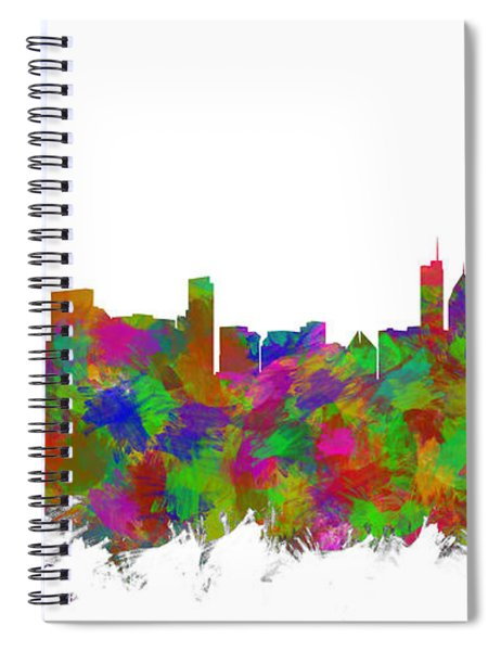 Chicago Skyline Silhouette I Spiral Notebook