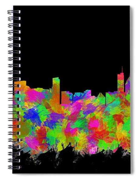 Chicago Skyline Silhouette II Spiral Notebook