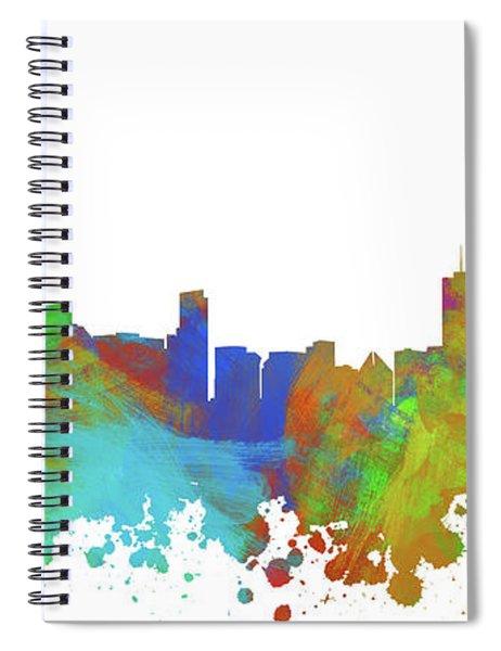 Chicago Skyline Silhouette IIi Spiral Notebook