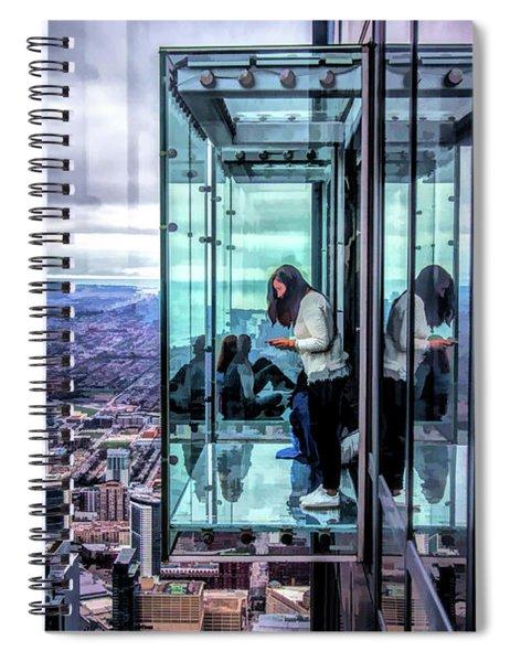 Chicago Willis Tower Ledge Spiral Notebook