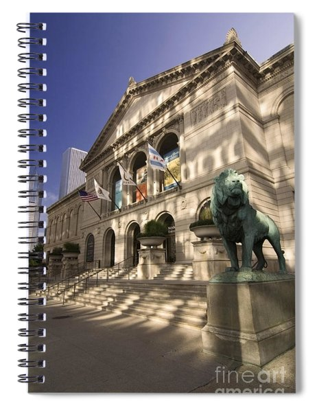 Chicago's Art Institute In Reflected Light. Spiral Notebook