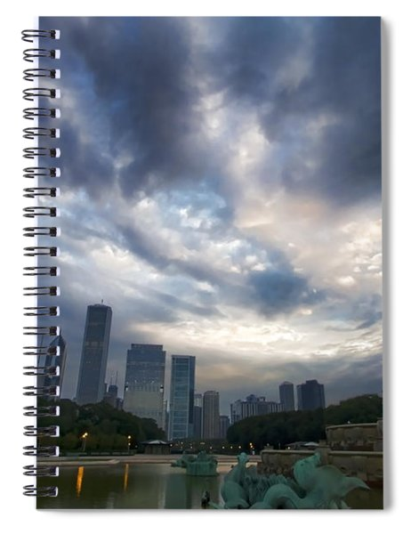 Chicago's Buckingham Fountain When It's Turned Off Spiral Notebook