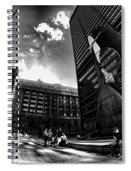 Chicago's Picasso With A Fisheye View Spiral Notebook