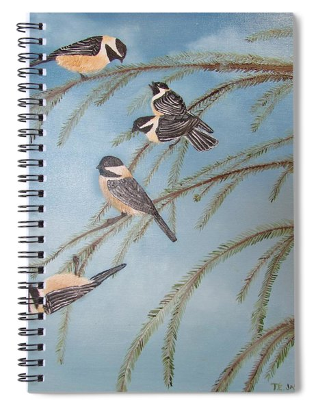 Chickadee Party Spiral Notebook