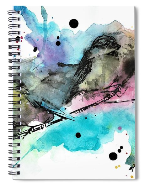Chickadee Punk Spiral Notebook