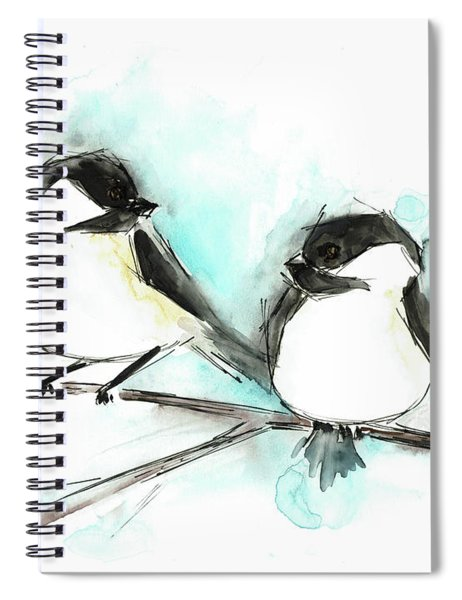 Chickadees II Spiral Notebook