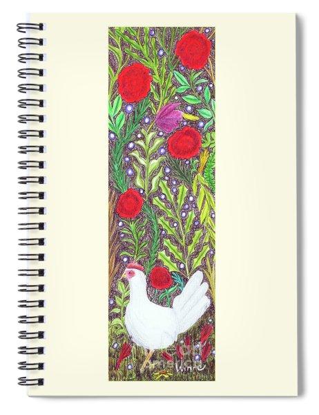Chicken With An Attitude In Vegetation Spiral Notebook