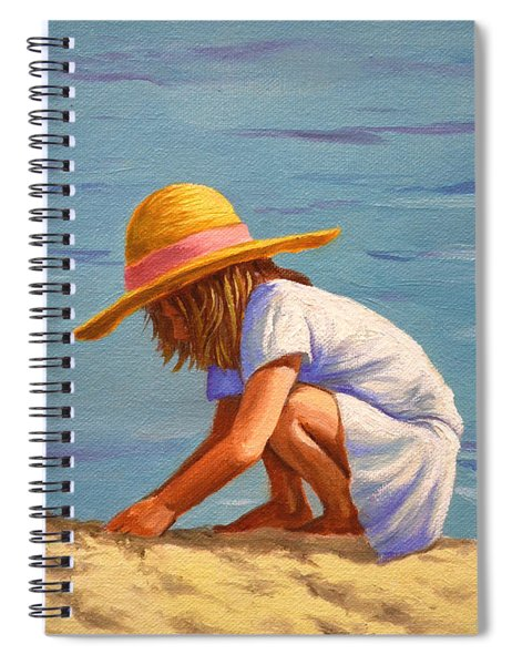 Child Playing In The Sand Spiral Notebook