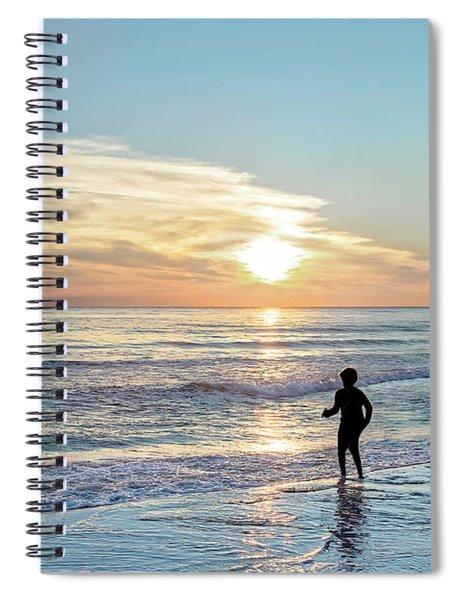 Children At Play On A Florida Beach  Spiral Notebook
