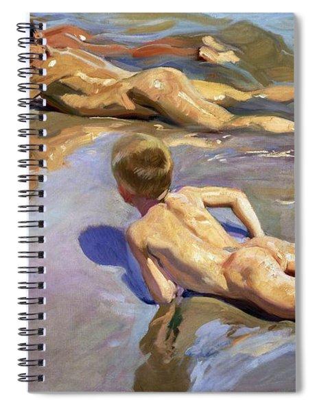 Children On The Beach Spiral Notebook