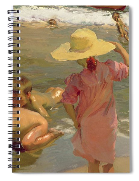 Children On The Seashore Spiral Notebook
