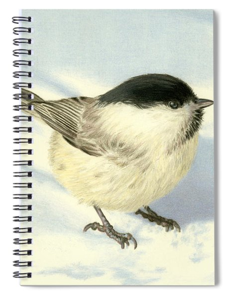 Chilly Chickadee Spiral Notebook