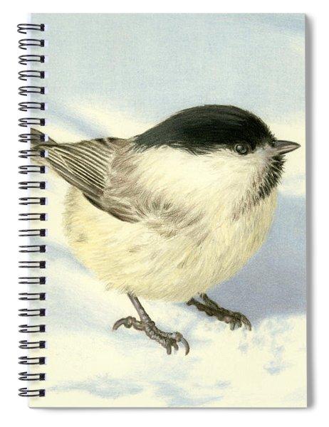 Chilly Chickadee Spiral Notebook