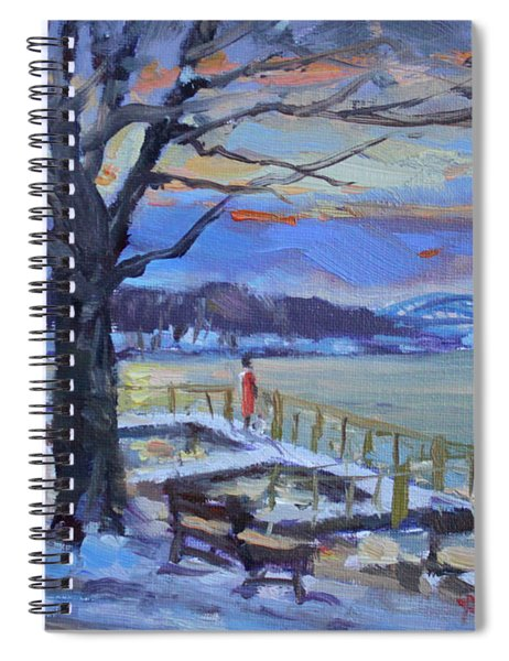 Chilly Sunset In Niagara River Spiral Notebook