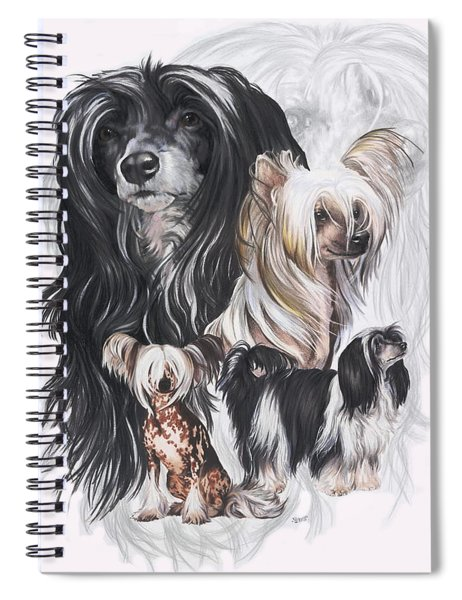 Chinese Crested And Powderpuff Medley Spiral Notebook