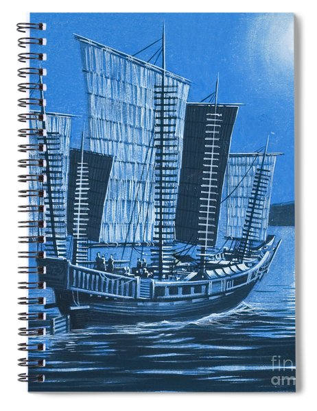 Chinese Ship Spiral Notebook