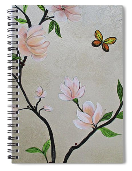 Chinoiserie - Magnolias And Birds #3 Spiral Notebook