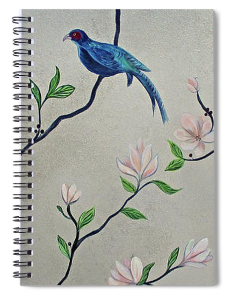 Chinoiserie - Magnolias And Birds #4 Spiral Notebook