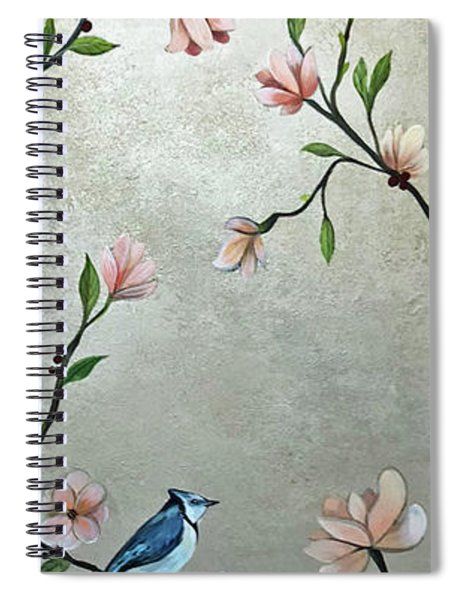 Chinoiserie - Magnolias And Birds Spiral Notebook