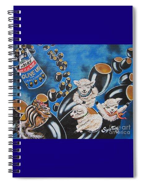 Flygende Lammet  Productions    Like It Or Not  Olive Us On Board  Spiral Notebook