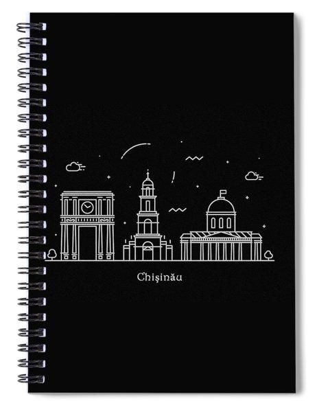 Chisinau Skyline Travel Poster Spiral Notebook