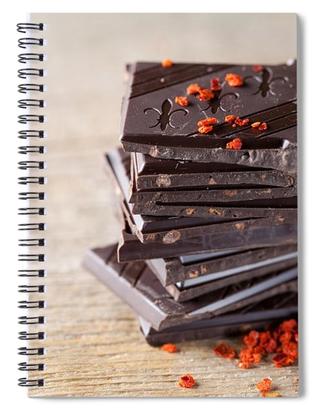 Chocolate And Chili Spiral Notebook