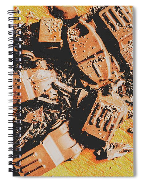 Chocolate Demolition Derby Spiral Notebook