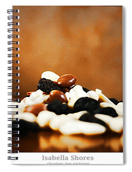 Chocolate Nuts And Raisins Spiral Notebook